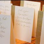Tischkarten für eine goldene Hochzeit