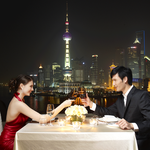 reastaurant con vista su skyline di Pudong