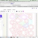 Hier sind die Brother Canvas Stoffzuschnitt Schablonenteile für die Hexagons 1-20.