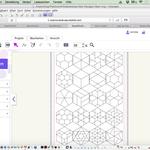 Hier sind die Brother Canvas Hexagons 1-20. Kantenlänge 4 cm. Muss ich aber noch mit dem Hobbyplotter Scan N Cut ausschnippeln.