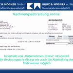 Rechnungsstellung online