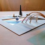 """© Siegfried Schütze und Martin Stachat, Entwurf für den Brunnen - Thema """"Prisma"""", 1989/90"""