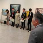 昭和会展、日動画廊での授賞式の様子