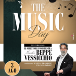 Locandina realizzata per il Music Day con Beppe Vessicchio a Santa Teresa di Riva