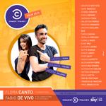 Grafica di presentazione del COMEDY CENTRAL TOUR andato in onda sul canale 124 di SKY