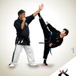 Grafica realizzata per la scuola di Karate all'IPPON di Furci Siculo