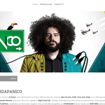 Layout e grafica realizzate per il nuovo sito di Dj Panico. www.djpanico.net