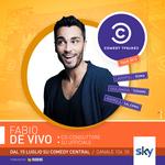 Grafica realizzata per la schedule artist di Fabio De Vivo, co-conduttore e dj del COMEDY CENTRAL TOUR andato in onda sul canale 124 di SKY