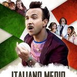 Con il 2% del cervello, la locandina del film ITALIANO MEDIO, l'abbiamo immaginata così