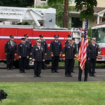 In formation: Wreath Laying Ceremony at Fanwood Library