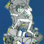 石の下(2014)  初出:人外展 アクリルガッシュ