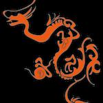 4月1日 [Illustrator] ドラゴン(ドロップシャドウ)