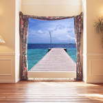 2月13日 [Photoshop]部屋と海(写真合成)