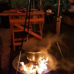 Glühwein aus der Feuerschale