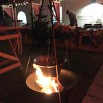 Feuerschale für Firmenevent zu Weihnachten