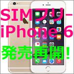 SIMフリー版iPhone6シリーズが1万1880円の値上げで発売再開!