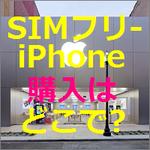 SIMフリーiPhoneの導入手順~ 【手順1】SIMフリーiPhoneの購入はApple Storeで!