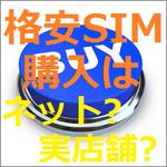 SIMフリーiPhoneの導入手順~ 【手順2】格安SIMカードの購入