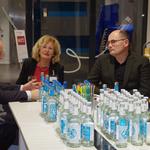 Vorbesprechung mit Moderator Daniel Kaiser, Cornelie Sonntag-Wolgast und den Podiumsgästen, Foto: Günther von der Kammer