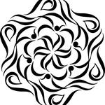 「Life文字曼荼羅」中心からLifeの文字が。