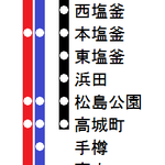 宮城線1957年日中停車駅