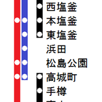 宮城線1985年日中停車駅