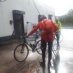 Voila, de fietsen zijn weer proper!