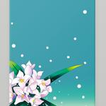 iPhoneケース 花 和風