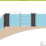 Entwurf Sichtschutzwand