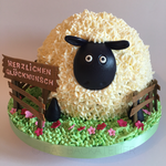 Shaun the Sheep - eine Riesen-Schaf-Torte zum Geburtstag