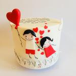"""""""Mein Lieblingsmensch""""-Torte mit einem herrlichen Red Velvet Cake und Vanillebuttercreme"""