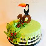 Eine wundervolle Tukan-Torte zum 10. Geburtstag