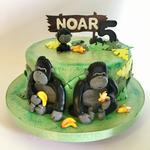 Zum 5. Geburtstag eine Gorilla-Torte