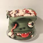 Eine echt gruselige Zombie-Torte