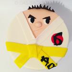 Karate-Torte (Vanillebiskuit und Vanillebuttercreme)
