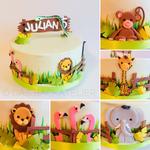 Zoo-Torte (Schokoladenbiskuit mit Schokoladenbuttercreme)