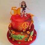 Zum 50. Geburtstag eine Disco-Torte