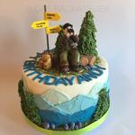 Wander-Torte (mit wunderbarer Schwarzwälder-Kirschtorte unter der Dekoration)