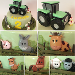 Die Details der Traktor-Torte