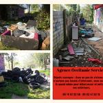 Débarras squat, déchets, dépôts sauvages en extérieur, désinfection