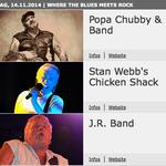 JR Band als Ersatz für Philip Sayce neben Popa Chubby am Start (Foto: HP Jazztage)
