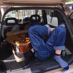 車の中で一休み 撮影:じん