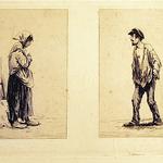 Duseigneur, Petite mendiante et le vagabond,  vers 1870