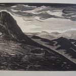 Seguin Bechetoille, Le mont Gerbier de Jonc, bois gravé, 32x23,7