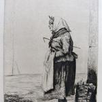 Duseigneur, Dans la rue, Lyon, eau-forte, 16,6x12,6, 1865
