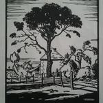 Burnot,  Sous le chêne 1922