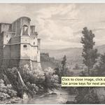 Guindrand, vue de Subiaco, d'après Coignet.