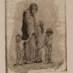 24 Mère et ses trois enfants, bois