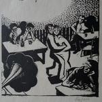 Laplace, scène de bar, bois, Album Ziniar, avril 1921
