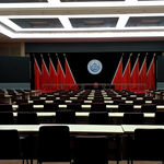 600 square meter Government Conference hall, No reflection sound and feedback. Super clear voice announcement.